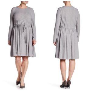 GLAMOROUS CURVE Drawstring Waist Tunic Dress